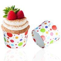 Wholesale bag Colorful Dot design Paper cakes Cupcake Baking Cake Cup Wedding birthday Party cake cup