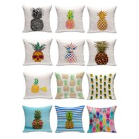 Wholesale Pineapple Decor - Colorful Pineapple Throw Pillow Case Cover 18x18 Inches Sequins pillow cushion covers Home Sofa Car Decor Christmas