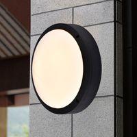 Wholesale Outdoor Ceiling Led Lighting - Modern Round Flat Led Light Outside Porch Lights Waterproof LED Ceiling Lamp Indoor Bathroom Lamp Outdoor Garden Lights AC 85V-265V