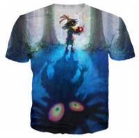 schädelt-shirt frauen groihandel-Neueste Mode Damen / Herren Schädel Kind Lustige Kurze Ärmel 3D Print T-shirt Sommer Casual T-shirt S-5XL108