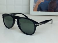 Wholesale top men models - new persol sungasses PE649 classical model aviator design glass lens top quality men designer sunglasses with case UV400 lens