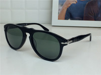 Wholesale Italian Glasses - Persol sunglasses 649 series Italian designer pliot classic style glasses unique shape top quality UV400 protection eyewear glass lens