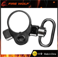 Wholesale Hunting Gun Swivels - Hunting M4 M16 Carbine Rifle Tactical Push Button 2 Position Quick Detach Release Gun Sling Swivel Mount Adapter