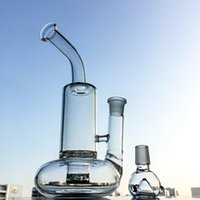 Wholesale turbine perc bongs - Tornado Perc Glass Bong Water Pipes 10 Inch Beaker Bongs Turbine Cyclone Percolator Oil Rigs 18.8mm Female Joint Dab Bong WP146