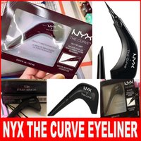 Wholesale High Quality Queen Size - NYX THE CURVE Liquid Eyeliner Beauty Meets Function High Quality Waterproof Cosmetics Party Queen Eye Makeup Eyeliner