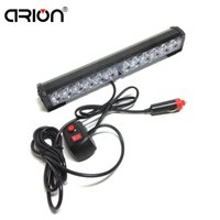 36W 12 LED Car Police Fireman Strobing clignotant Light CE Warning Rouge Blanc Amber Lights conduit le feu de circulation