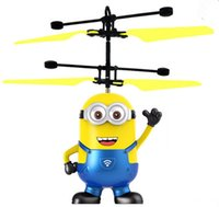 Wholesale Minion Lights - cartoon Air RC Flying Ball 5 styles flying minions Built-in Shinning LED Lighting for Kids Teenagers Colorful Flyings