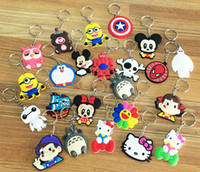 Wholesale Many Models Soft PVC Keychain Phone Accessories Cartoon Rings Trinket Gift Souvenirs