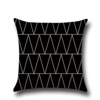 Wholesale spotted pillows resale online - Minimal Art Geometry Design Pattern Square Pillow Case for Sofa Home Decorative Pillow Black White Diamond Spot Triangle