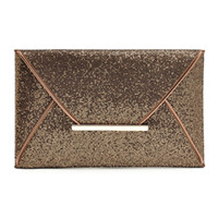 Wholesale Brown Glitter Purses - Glitter Sequins Evening Clutch Bag Purse Handbags - Shimmer Party Wedding Envelope Wallet Bag (Gold Black Brown)