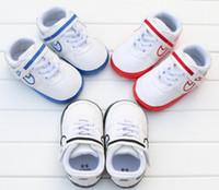 Wholesale Baby Prewalker Shoes Brand - Baby Shoes Prewalker Print Boys Toddlers moccasins bebes infantis sapatos First Walkers football breathability brand Newborn