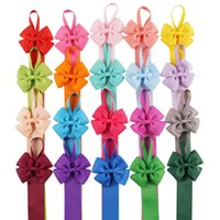 Wholesale Ribbon Hair Bow Holder - 20 Pcs lot 20 Colors Hair Clip Organizer Grosgrain Ribbon Hair Bow Holder Storage Organizer Bows Holder For Hair Accessories 23 Inch