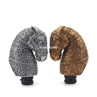 Wholesale Horse Trucks - New Car Personalized Shift Knob Carved Gold Silver Horse Universal Car Truck Manual Gear Stick Shift Lever Knob Shifter