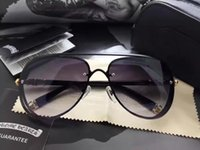 Wholesale Black Chrome Wrap - Mens Chrome Sunglasses Black Brown Gradient Lenses Brand New With Case