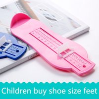 Wholesale Baby Home Shoes - Kids Children Shoe Sizer Measure Feet at Home Device 20cm Baby Foot Measuring Ruler