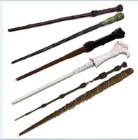 Wholesale Harry Potter Dumbledore Wand - 2017 harry potter wand Cosplay magic led Ghost head Ron Sirius Lord Voldemort hermione Dumbledore harry potter light wand with box