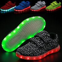 Wholesale Kids Baby Boys Gilrs Anti Slip Breathable Soft Soled Comfortable LED Light Prewalker Shoes Casual Sports Shoes Shoes Accessories