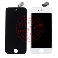 Wholesale Digitizer Lcd Touch Screen - For iphone 5 front glass Grade A +++ LCD Display Touch Digitizer Complete Screen with Frame Full Assembly Replacement 1 Day Shipping