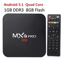 Wholesale Cheapest Media Box - Cheapest MXQ Pro 4K Smart TV Box S905 KD16.1 Android Streaming Media Player support WiFi H.265 3D Free Movie