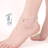 Wholesale Cute Tops For Cheap - Cheap Silver Jewellery Wholesale Fashion Cute Lucky Dogs Anklets for Women Silver Plated Foot Bracelet Leg Chain Jewelry Top Quality Gifts
