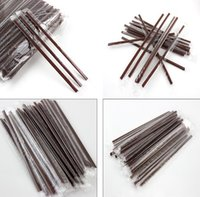 Wholesale Tea Set For Wedding Gift - 100pcs bag or set stirrer two holes plastic straws coffee tea etc for Birthday Wedding Team Bride Hen Party Decor baby shower gift craft DIY