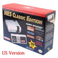 Wholesale Mario Game Console - 10pcs NINTEND0 NES Classic Edition Console 30 Games Entertainment System US EU Retro Family TV Game Players 1980S Super Mario HDMI OUT