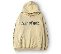 ingrosso hoodie di qualità-Felpa con cappuccio da uomo di marca Fear Of God Beige Felpa con cappuccio da viaggio Gorilla Wear Felpa hiphop Skateboard Felpa con cappuccio di alta qualità