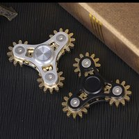 Wholesale Wholesale Gear Bags - New 4 Gears Aviation Aluminum Hand Spinner with EVA Bags Metal Anxiety Fidget Toys with Stainless Steel R188 Bearing Bey072