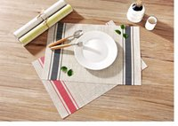 Wholesale Silks Placemats - Wholesale-Top Finel 2017 5pcs lot PVC Placemats for Dining Table Runner Polyester silk Place Mat in Kitchen Cup Wine Mat Coaster Pad