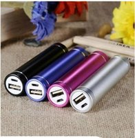 Wholesale Travel Battery Charger For Cheap - Cheap powerbank 2600mAh Portable Cylinder USB Power Bank External Backup Battery Charger Power Pack for Samsung iPhone Travel Banks Chargers