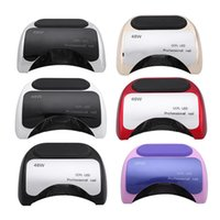 Wholesale Equipment For Led - 48W Nail Dryer UV LED Lamp for Gelish Polish Fast dry CCFL LED Professional nail tools with automatic sensor Salon Beauty Equipment