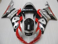 Wholesale Gsxr Motorcycle Fairing Kit - Lower price motorcycle Fairing kit for Suzuki GSXR1000 2000 2001 2002 fairings set red silver black GSXR 1000 00 01 02 XH47