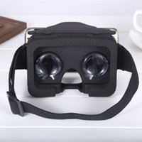 Wholesale Cheapest 3d Glasses - DHL Free 2017 Cheapest 3D VR Box VR Glass Virtual Reality Box Google Cardboard 3d Movie For 3.5-6.0 Inch Phones Head Mount with Retail Box