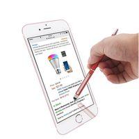tükenmez kalem dokunmatik kalem toptan satış-Stylus Kalem 2 in 1 Muti-fuction Kapasitif Dokunmatik Ekran Stylus Ve Tükenmez Kalem Cep Telefonu için tüm Akıllı Cep Telefonu Tablet