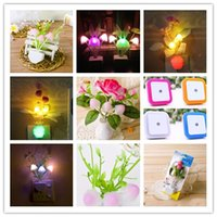 Wholesale Small Night Light Lamps - Light control fantasy mushroom led small night lamp ground stand new exotic creative products wholesale by DHL