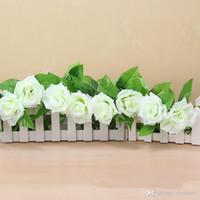 efeu hochzeit dekorationen großhandel-Seidenstoff Künstliche Blumen Gefälschte Simulation Rot Rosa Champagner Rose Ivy Reben Behänge Girlanden für Home Wedding Dekoration