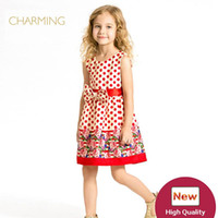Wholesale Kids Models China - Brand new fashion kids clothes Designer children clothing Quality printed round neck sleeveless dress Best wholesale suppliers from china