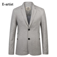 Wholesale Business Artist - Wholesale- E-artist Mens New Arrival Slim Fit Business Casual Blazer Jackets Suits Coats Thin Outwear Overcoats Plus Size X17
