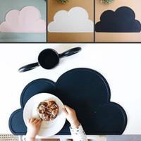 Wholesale set plates table resale online - cm Waterproof Silicone Placemat Bar Mat Baby Kids Cloud Shaped Plate Mat Table Mat Set Home Kitchen Pads