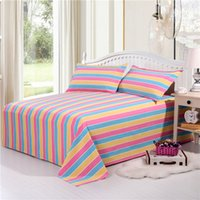 Wholesale Bedding article coarse cloth sheet Double bed simple style cotton sheets four seasons general A variety of colors no1