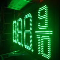 Wholesale Led Rf Remote Single - 16inches Gas Station Price Sign outdoor LED signs red green blue white single color digits 8.888 8.889 10 with RF remote