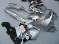 kit de carenado zx6r 1996 al por mayor-Juego de carenado para motocicleta Kawasaki Ninja ZX6R 1994-1997 Carenados plateado negro set ZX6R 94 95 96 97 OT02