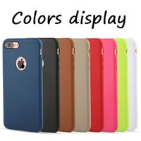 Wholesale Iphone 5s Soft Design - For iPhone 8 Cases Candy Color Original Design Official Coque Slim Soft TPU Silicone Gel Case Cover Skin For iPhone 8 7 Plus 6 6S 5 5S SE