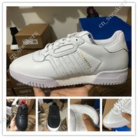CALABASAS POWERPHASE Chaussure Kanye West Calabasas Hommes Femmes Baskets Cuir en cuir blanc avec chaussures latérales Calabasas Outdoor Nouvelle collection