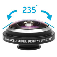 Universal 235 gradi Super FishEye Lens Clip-on Wide Angle Selfie Lens Kit portatile per cellulare per fotocamere Samsung IPhone