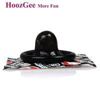 Wholesale Kong Sex Toy - HoozGee Pleasure More Black King Kong Condoms Sex Products, Male Latex Condoms Sexual Health Adult Sex Toys 20pcs lot