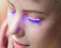 Wholesale Glitter Machine Wholesale - Lashes Interactive LED Eyelashes Fashion Glowing Eyelashes Waterproof for Dance Concert Christmas Halloween Nightclub Party