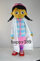 Wholesale Doctor Mascot Costumes - 2017 High quality female little doctor cartoon Mascot Costume White Clothes Doctor Adult Size Fancy Dress Party Factory Direct Free Shipping
