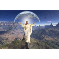 Wholesale Raining Wall Painting - Landscape Jesus Full Drill DIY Diamond Painting Embroidery 5D The Rain Cross Stitch Crystal Home Bedroom Wall Decoration Decor Craft Gift