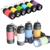 Wholesale Wholesale Flashlights Free Shipping - Rechargeable Mini USB LED Torches Pocket Mini LED Flashlights Charger Lamp Keychain Lights Free shipping DHL